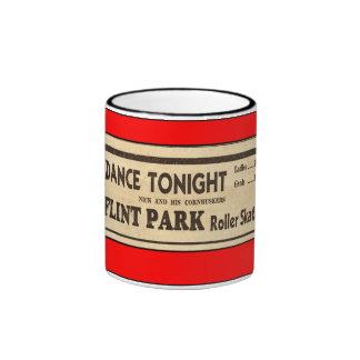flint park rollerskate mug