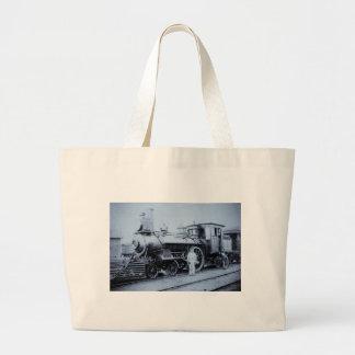 Flint & Pere Marquette Railroad Engine # 11 Large Tote Bag