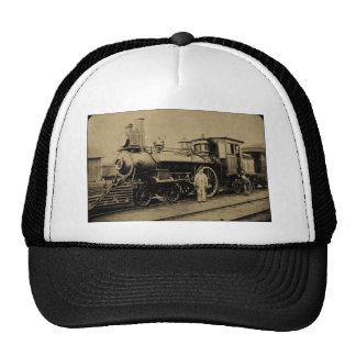 Flint & Pere Marquette Railroad Engine # 11 sepia Trucker Hat