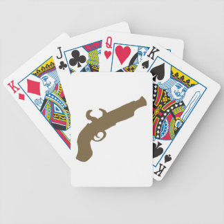 Flint Pistol Silhouette Bicycle Playing Cards