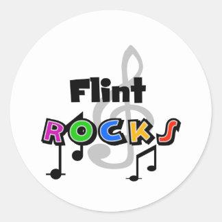 Flint Rocks Round Sticker