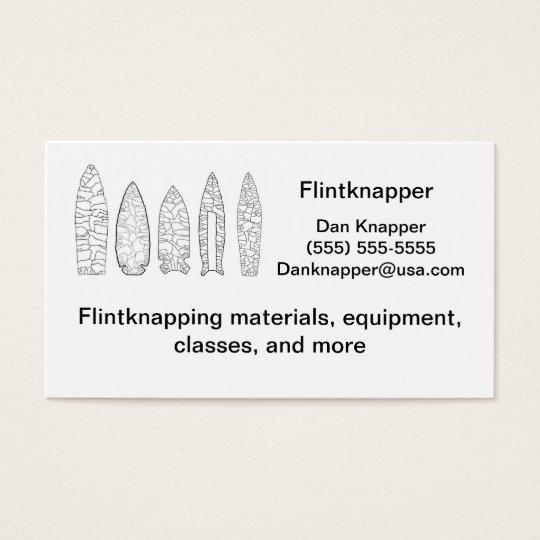 flintknapper's business card