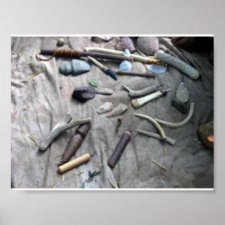flintknapping tools poster