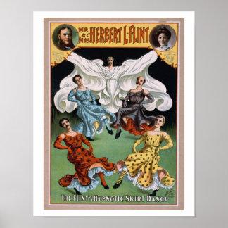 """""""Flint's Hypnotic Skirt Dance"""" Poster"""