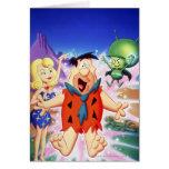 Flintstone de Fred bajo encanto Felicitaciones