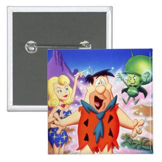 Flintstone de Fred bajo encanto Pin Cuadrado