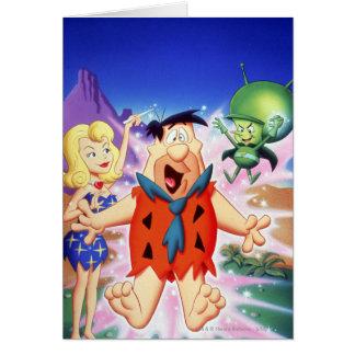 Flintstone de Fred bajo encanto Tarjeta De Felicitación
