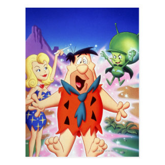 Flintstone de Fred bajo encanto Tarjeta Postal