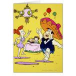 Flintstone Wilma Barney de Fred y fiesta de Betty Tarjetón