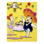 Flintstone Wilma Barney de Fred y fiesta de Betty Postal