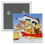 Flintstone Wilma Barney y Betty PEBBLES™ de Fred Pin Cuadrada 5 Cm