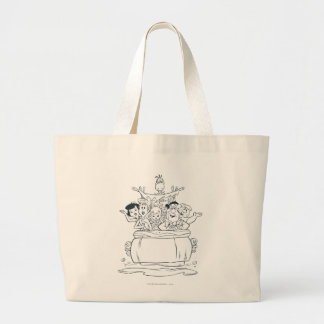 Flintstones Families1 Large Tote Bag