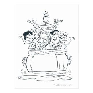 Flintstones Families1 Postcard