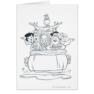 Flintstones Families1 Tarjeta De Felicitación