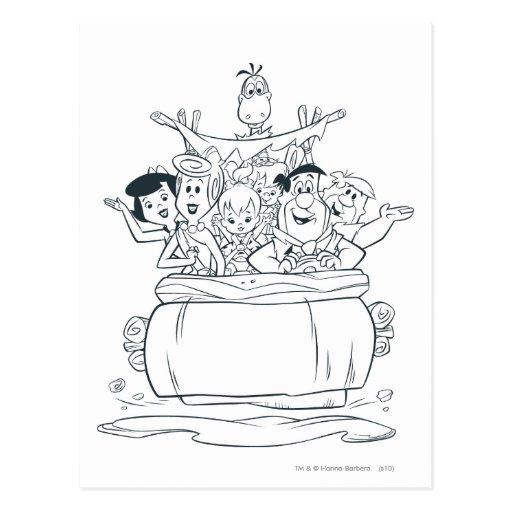Flintstones Families1 Tarjetas Postales