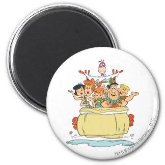 Flintstones Families2 2 Inch Round Magnet