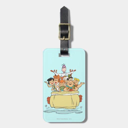 Flintstones Families2 Etiquetas Para Equipaje