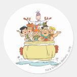 Flintstones Families2 Pegatina Redonda