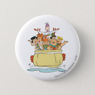 Flintstones Family Roadtrip Button