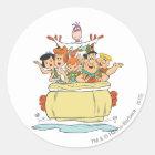 Flintstones Family Roadtrip Classic Round Sticker