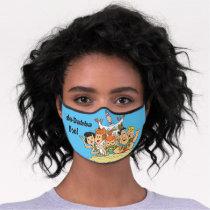 Flintstones Family Roadtrip Premium Face Mask