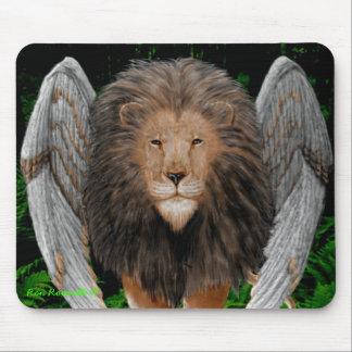 Flion Mousepad león con alas Alfombrilla De Raton