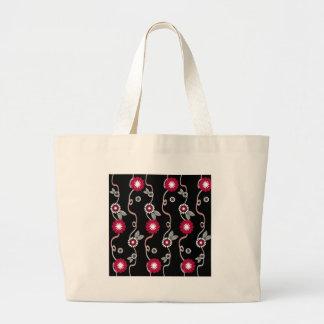 Fliower Stripes Tote Bags
