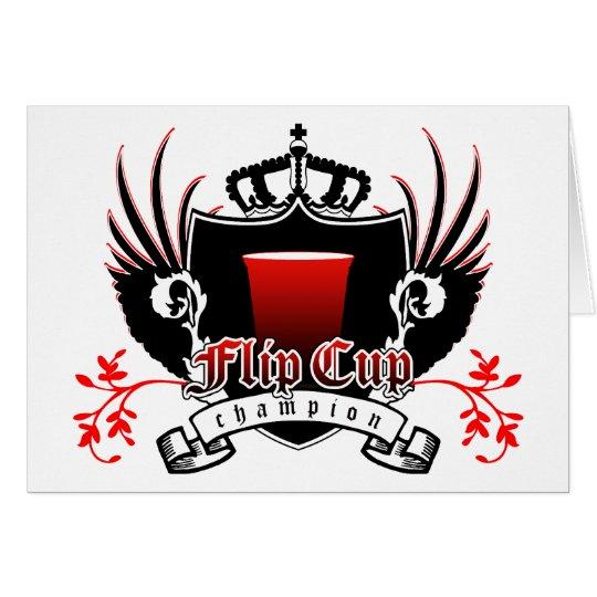 flip cup champion royal crest card