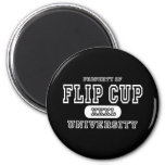 Flip Cup Dark Refrigerator Magnet