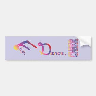 Flip, Dance, Cheer Bumper Sticker Blue