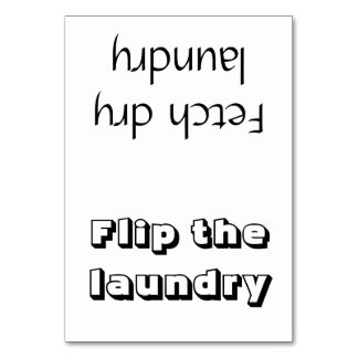 Flip/Fetch Laundry Reminder Card