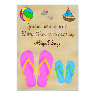 Flip Flop Baby Shower Invitations for Boys