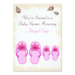 """Flip Flop Baby Shower Invitations for Girls 5"""" X 7"""" Invitation Card"""