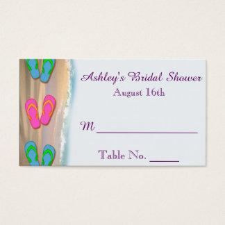 Flip Flop Beach Bridal Shower Place Cards