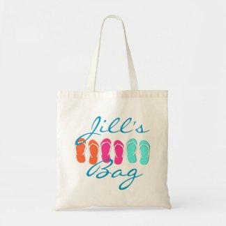 Flip Flop Beach Budget Tote Bag