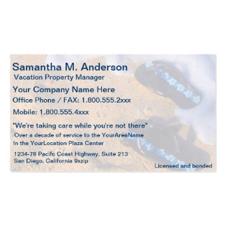 Flip Flop Beach Sandals Double-Sided Standard Business Cards (Pack Of 100)