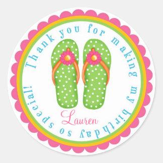 Flip Flop Birthday Stickers