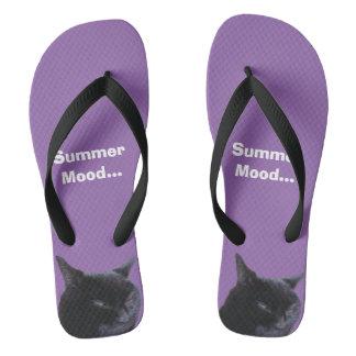Flip Flop  Cat Summer Mood by  Billy Bernie Flip Flops