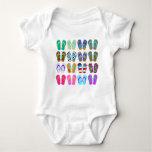 Flip-Flop Chart Baby Bodysuit