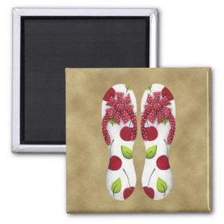 Flip Flop Cherries Magnet