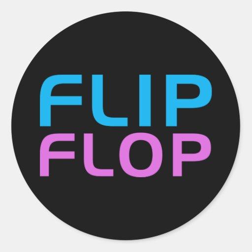 Flip Flop Classic Round Sticker