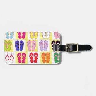 Flip Flop Collage Bag Tag