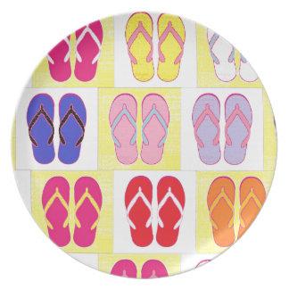 Flip Flop Collage Plates