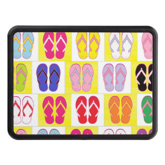 Flip Flop Collage Trailer Hitch Cover