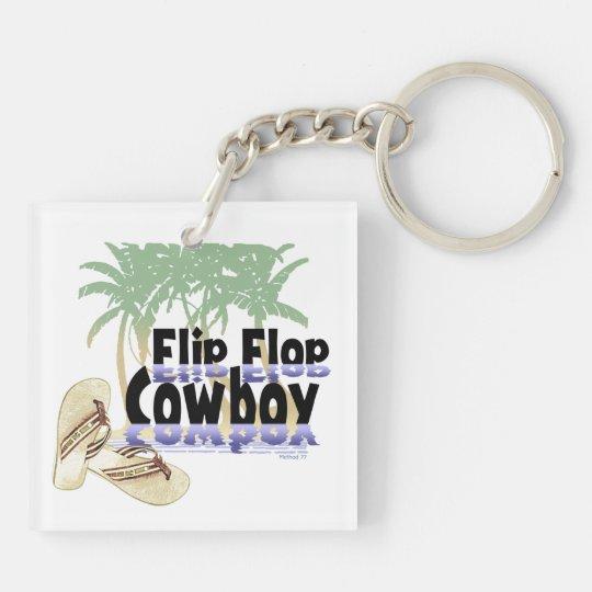 Flip Flop Cowboy Keychains