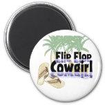 Flip Flop Cowgirl Magnet