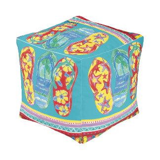 Flip-flop Cube Pouf