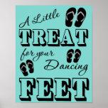 "Flip Flop Dancing Wedding Sign - 11"" x 14"" Poster"