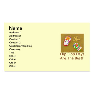 Flip Flop Days Double-Sided Standard Business Cards (Pack Of 100)