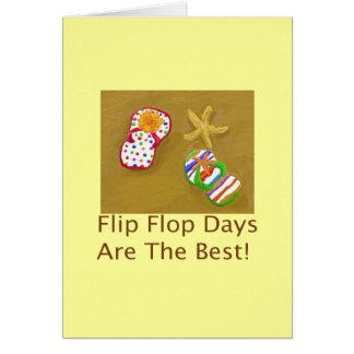 Flip Flop Days Greeting Cards